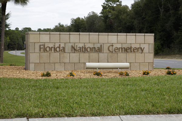 Florida National Cemetery Entry Sign — photo by Joseph May