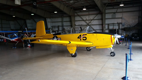 Beechcraft T-34 Mentor at WOMAM — photo by Joseph May