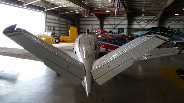 Beechcraft V35B Bonanza Vee tail perspective — photo by Joseph May