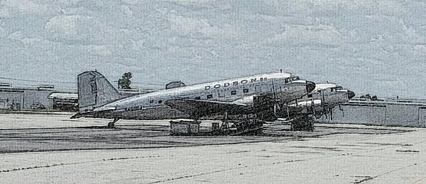 WW II vintage DC-3 aircraft recently at Punta Gorda Airport — Joseph May: Travel for Aircraft