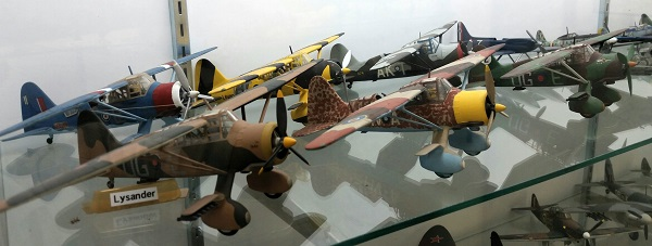 Flock of de Havilland Lysander models — photo by Joseph May