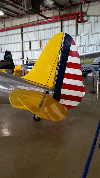 Tail of the PT-22 at WOMAM — photo by Joseph May