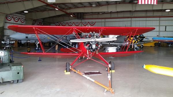 Waco UPF-7 biplance at WOMAM — photo by Joseph May