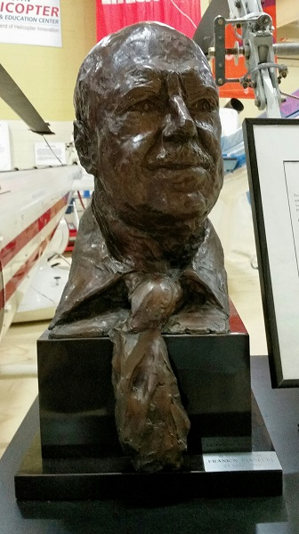 Bust of Igor Sikorsky at the American Helicopter Museum — Travel for Aircraft: Joseph May