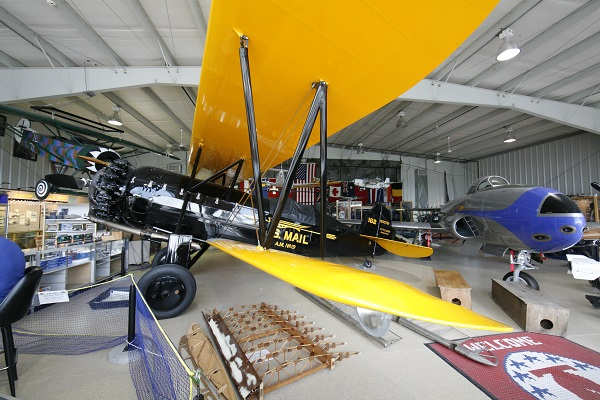 Harold F. Pitcairn Wings of Freedom Museum with Pitciarn Mailwing (L) and Lockeed TV-1 Shooting Star (R) — Travel for Aircraft: Joseph May