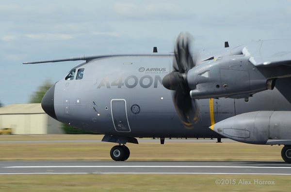 Airbus A 400M scimitar propellers — copyright Alex Horrox 2015