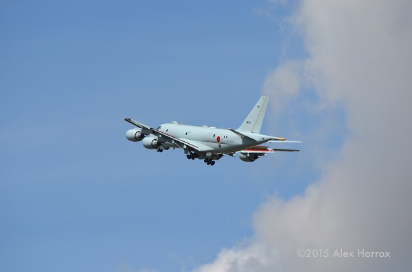 RIAT 2015 fly past of the new Kawasaki P-1 — copyright Alex Horrox 2015