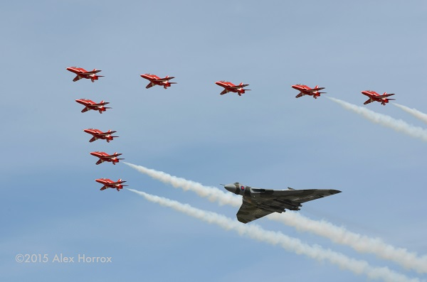 blog RIAT 2015 Reds and XH558 fly past Alex Horrox