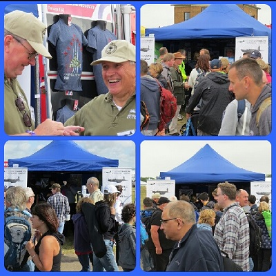 Steve Manning and John Lilley ad lib at The People's Mosquito tent at RIAT 2015 — copyright Alex Horrox 2015