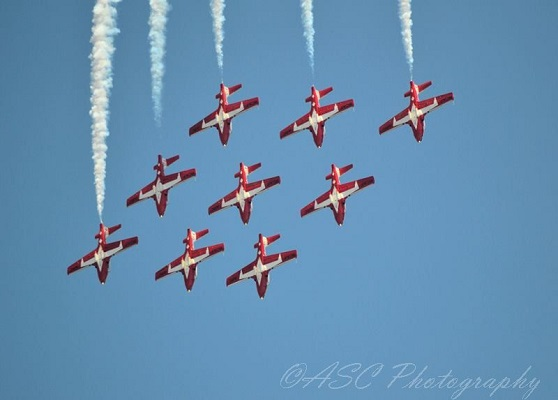 RCAF Snowbirds — copyright Air Show Consultant:Ross Sharp