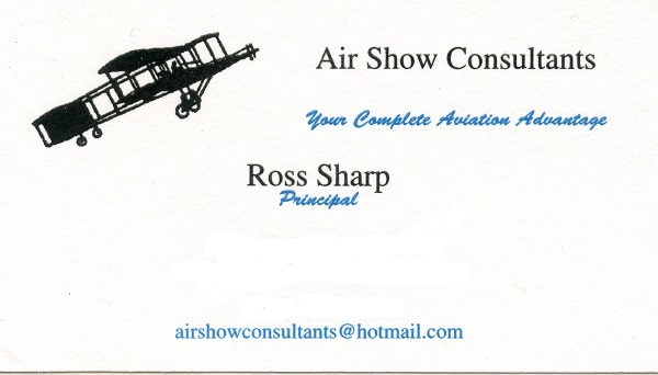 Ross Sharp, Principal/Air Show Consultants