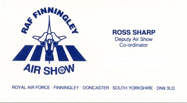 Ross Sharp, RAF Finningley Air Show/Deputy Air Show Coordinator