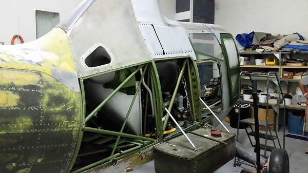 Sikorsky R-6 during restoration at the American Helicopter Museum — Joseph May:Travel for Aircraft