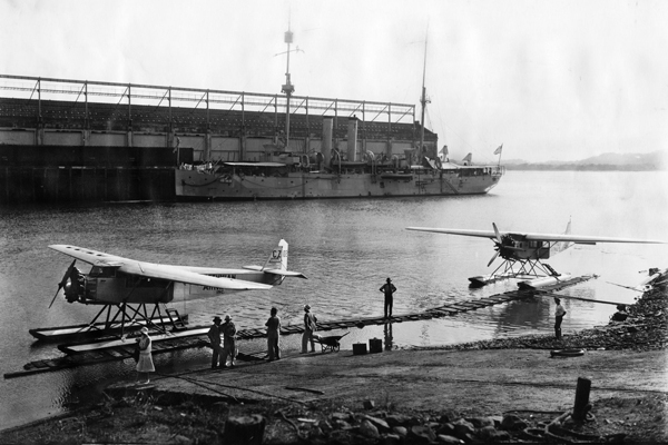 Hamilton H-47 Seaplanes Isthmian Airways c1930 Milton Blackstone photo SDASM