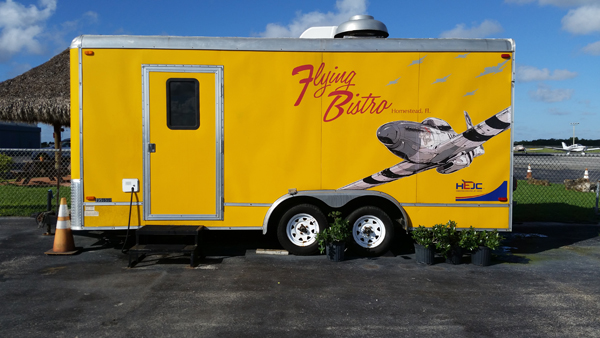 """Flying Bistro"" food trailer at the Homestead General Aviation Airport—Joseph May/Travel for Aircraft"