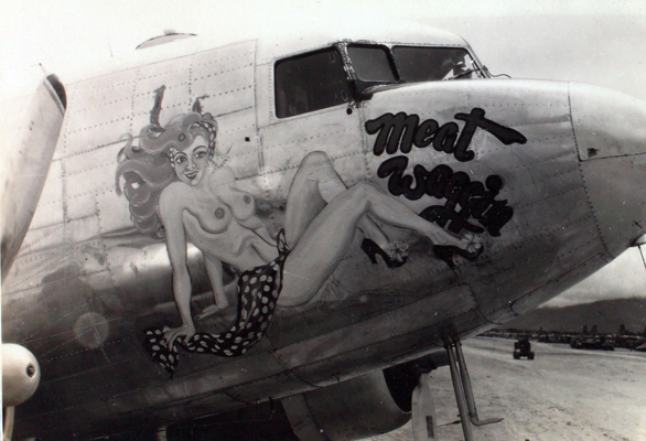 "C-47 Skytrain nose art ""Rio Rita""—San Diego Air and Space Museum image archive"