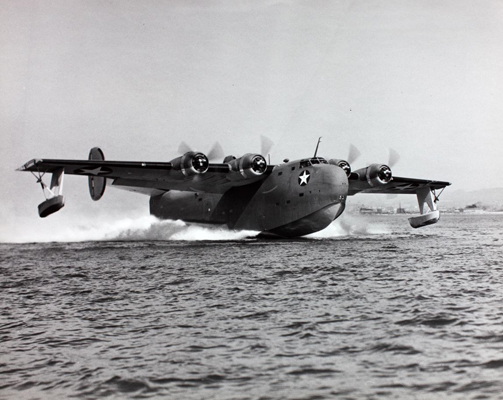 Consolidated PB2Y Coronado probably taking off—San Diego Air and Space Museum image archive
