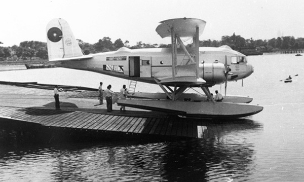 Curtiss Condor on floats—San Diego Air and Space Museum image archive