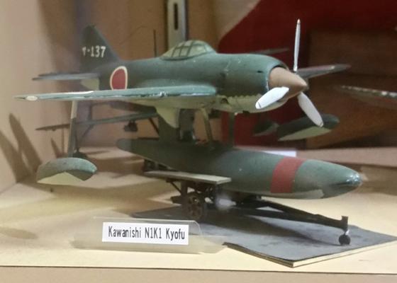 Kawanishi N1K1 Kyofu (allied code name Rex) model—Joseph May/ Travel for Aircraft