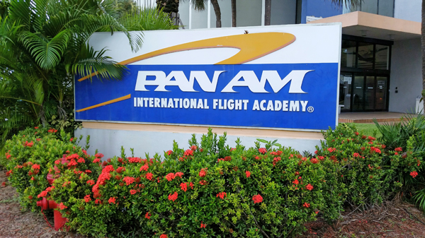 Pan Am International Flight Academy entry sign—Joseph May/Travel for Aircraft