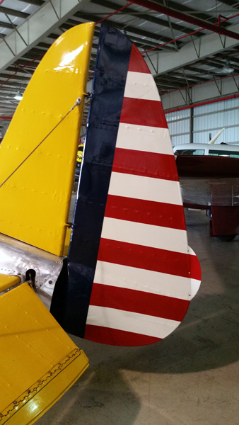 Patriotic stripes on this Ryan PT-22 Recruit—Joseph May/Travel for Aircraft