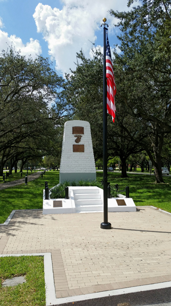 The monument in Miami Springs FL honoring then Capt. Roy Geiger, USMC, on being the first commander of the Marine's first aviation unit—Joseph May/Travel for Aircraft