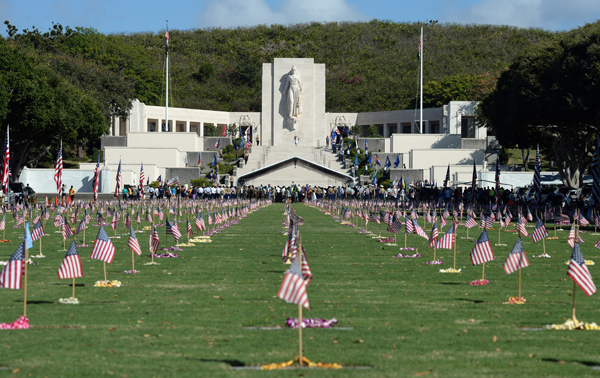 "National Memorial Cemetery of the Pacific, better known as ""Punchbowl""--USN image Mass Comm Spec 2nd Class Laurie Dexter"