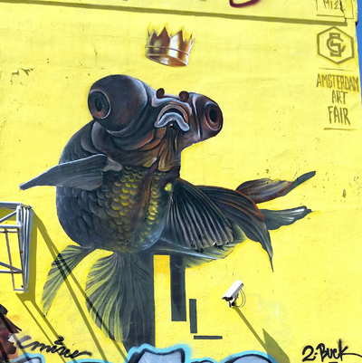 Super sized guppy in a mural in the Lynwood District of Miami FL Joseph May:Travel for Aircraft