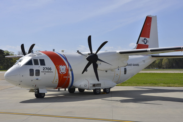 Alexia Aermacchi HC-27J Spartan—USCG photo by Alexia Aermacchi HC-27J Spartan Medium Range Surveillance airplane sits on the runway at Coast Guard Aviation Logistics Center in Elizabeth City, North Carolina, Thursday, March 31, 2016. The C-27J U.S. Coast Guard photograph by Petty Officer 3rd Class Joshua L. Canup