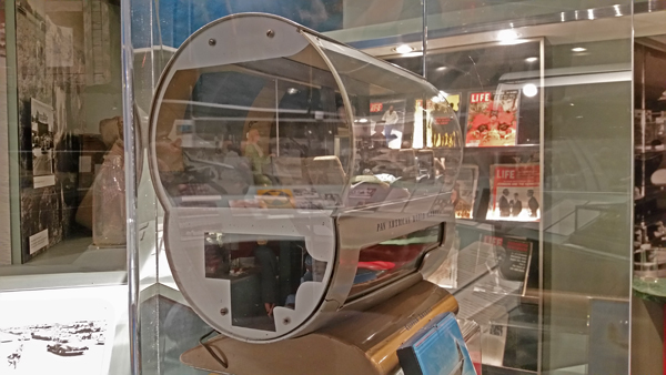 Boeing Pan Am 307 Stratoliner section model at HistoryMiami—Joseph May:Travel for Aircraft