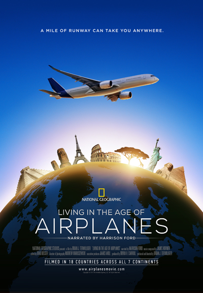 DVD cover of Living in the Age of Airplanes—image provided by National Geographic