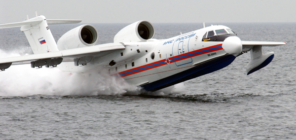 Beriev Be-200 Altair taking flight—image provided by NATO