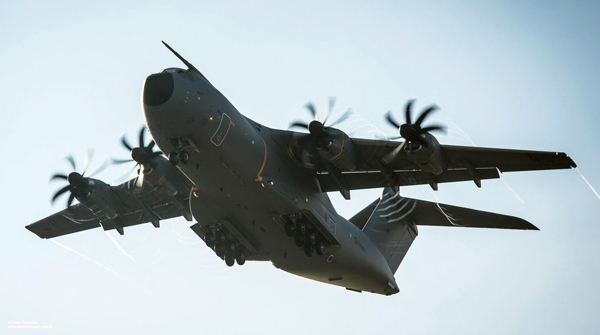 A Royal Air Force A400M Atlas aircraft flies over RAF Brize Norton on 18th Nov 2014. The first of the UK's A400M Atlas next-generation military transport aircraft was officially unveiled by the MOD at its new home at RAF Brize Norton in November 2014. The aircraft will replace the existing fleet of C-130 Hercules which have been the tried and trusted workhorse of the RAF's Air Transport Fleet for decades. Manufactured by Airbus Defence & Space, A400M Atlas will represent major advances on its predecessor, capable of flying almost twice as fast, twice as far and carrying almost twice as much cargo. With a cargo capacity of 32 tonnes and a hold optimised for carriage of heavy vehicles, helicopters or cargo pallets, the aircraft is capable of supporting a wide range of operational scenarios. ------------------------------------------------------- © Crown Copyright 2014 Photographer: Steve Lympany Image 45158360.jpg from www.defenceimages.mod.uk This image is available for high resolution download at www.defenceimagery.mod.uk subject to the terms and conditions of the Open Government License at www.nationalarchives.gov.uk/doc/open-government-licence/. Search for image number 45158360.jpg For latest news visit www.gov.uk/government/organisations/ministry-of-defence Follow us: www.facebook.com/defenceimages www.twitter.com/defenceimages