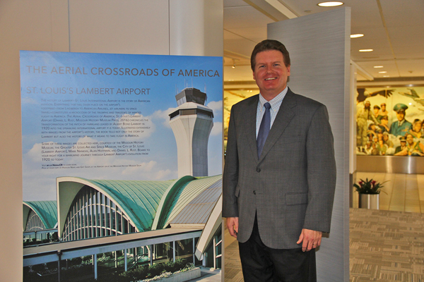 "Daniel Rust, author of ""Flying Across America: The Airline Passenger Experience""--Lambert-St. Louis International Airport image"