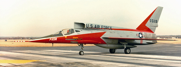 DAYTON, Ohio -- North American F-107A at the National Museum of the United States Air Force. (U.S. Air Force photo)