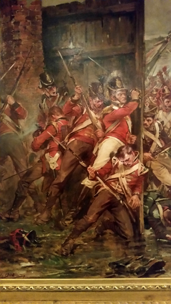 blog-closing-of-the-gates-at-hougoumont-by-robert-gibb-1903-of-the-1825-battle-of-waterloo-detail-national-war-museum-of-scotland-20170209_123759