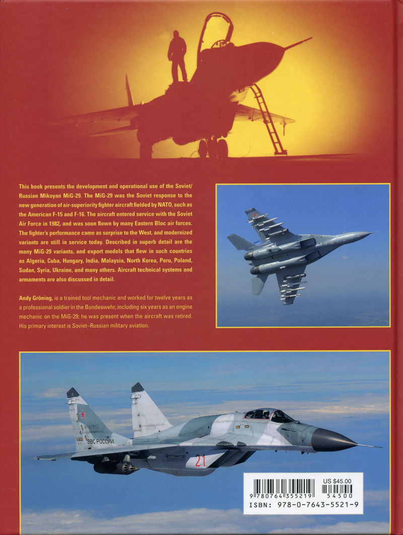 MiG-29: Russia's Legendary Air Superiority, and Multirole Fighter, 1977 to the  Present by Andy Gröning, | Travel for Aircraft