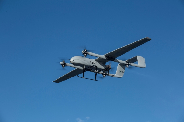 UAV—the VTOL Fixed Wing hybrid for long range   Travel for
