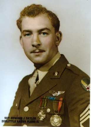 Ed Saylor during World War II — photo provided by Gene Fioretti
