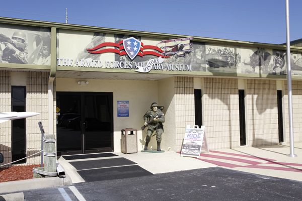 Entry to the Armed Forces Military Museum in Largo, FL — photo by Joseph May