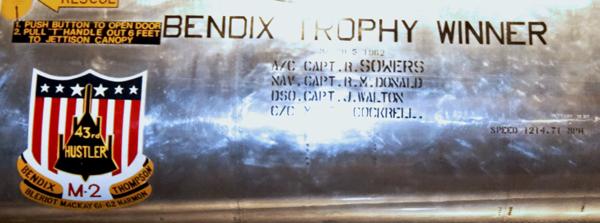 Bendix Trophy winning crew — photo by Joseph May