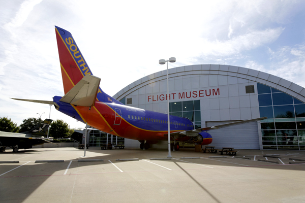 Southwest Airlines apparently has a cozy relationship with the museum ;) — photo by Joseph May