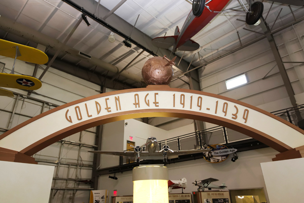 Golden Age of Flight exhibit — photo by Joseph May