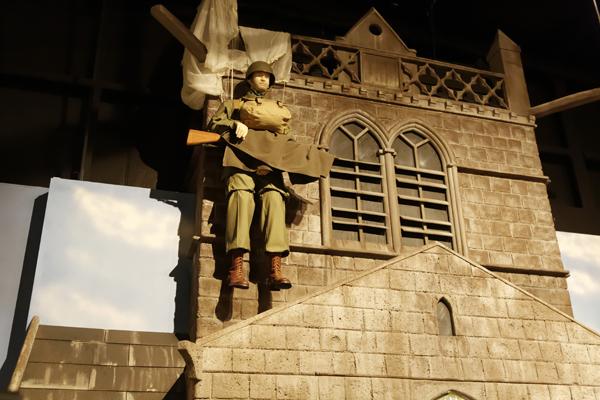 Pvt John Steele fulls scalel diorama — photo by Joseph May