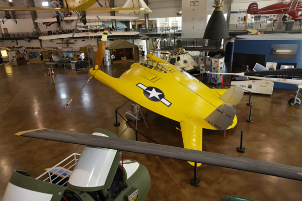 "Vought V-173 ""Flying Pancake"" proof of concept aircraft — photo by Joseph May"