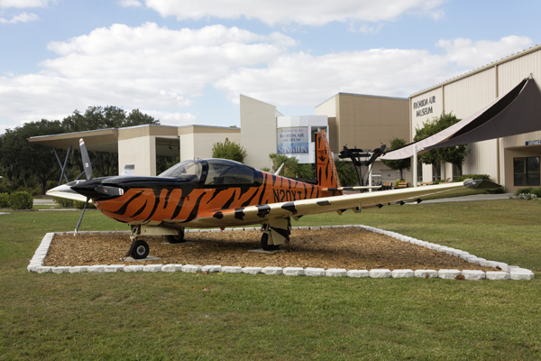 Rare Mooney M20T Predator at the entrance to the Florida Air Museum — photo by Joseph May