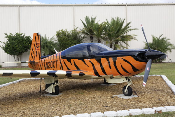 A better view of the unique three tone tiger stripe livery — photo by Joseph May