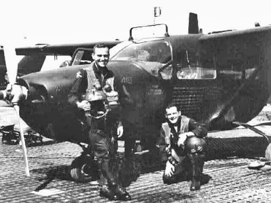 Kudy Jay with FAC pilots Don Brown and Pat Sweeney photo provided by the Forward Air Controller's Museum photographer unknown