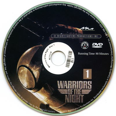 Warriors of the Night Disc 1, 2003, DVD, 90 minutes