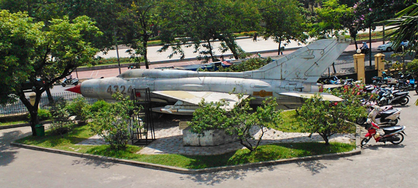 MiG 21 at the entry to the Vietnam History Museum in Hanoi — Catherine Dowman photograph ©2013